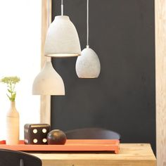 Yes please - these lights would look great over my dining table  Tadao 1 Flat Top Pendant in Concrete | Modern Pendants | Pendant Lights | Lighting