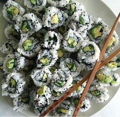 Sushi for breakfast sounds divine. My favorite (there are no rules with breakfast. I eat what I want when I want. In fact maybe Ill have toast for dinner) Think Food, I Love Food, Good Food, Yummy Food, Food Porn, Food Goals, Aesthetic Food, Food Cravings, Food Inspiration