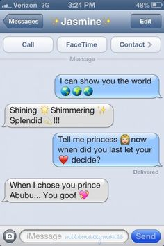 10 Magical Texts from Disney Princesses to their Princes