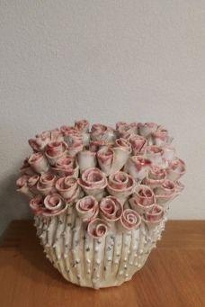 Slab Pottery, Pottery Vase, Ceramic Pottery, Ceramic Art, Ceramic Bowls, Cement Flower Pots, Ceramic Flower Pots, Clay Flowers, Ceramic Glaze Recipes