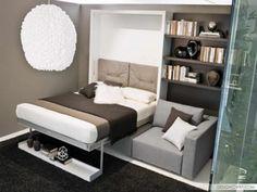 Маленькая спальня? Не беда - 30 дизайн идей в фото |  #дизайн #интерьер #кровать #спальня Интересно