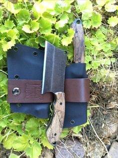 Custom EDC Cleaver made by Aaron J Hanson knives. Find me on Facebook