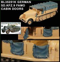 german sd.kfz.9 famo - cabin doors