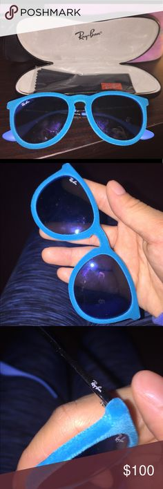 Ray ban sunglasses Only worn a few times. 🙂 In excellent condition. No scratches, dents, dirt or marks. Comes with case and lense cleaner in package. (100% AUTHENTIC) Ray-Ban Accessories Glasses