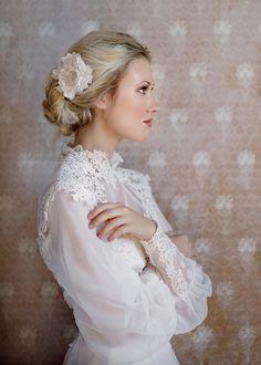 long sleeved vintage bride