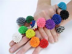 Really cool duck tape mini flowers...colorful and perfect for spring time fun!