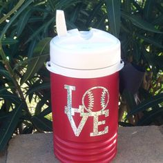 Sport water jug RED  Igloo 1 quart cooler  by BOWSandBALLERS