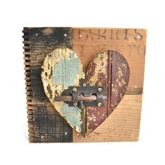 heart art primitive wood reused - what is it about shabby that I love so much?