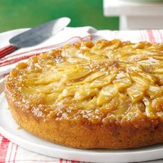 Gingered-Apple-Upside-Down-Cake-  good use for crystallized ginger leftover from my Alton Brown turkey brine recipe