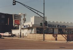 The original era White Castle restaurant at South Archer and Kedzie Avenues, in Chicago's Brighton Park neighborhood. Seen in March of 1985 prior to demolition. by Eddie from Chicago South Side Chicago, White Castle Restaurant, Vintage Restaurant, The Neighbourhood, Chicago Pictures, Chicago Illinois, Chicago City, Chicago Area, Chicago Neighborhoods