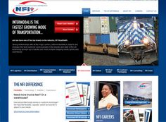 NFI Industries has to serve up an awful lot of content. They do it very well with a crisp design and rotating main-page content.
