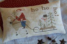 Needlework, Cross Stitch, Santa, Xmas, Throw Pillows, Punto De Cruz, Dots, Dressmaking, Embroidery