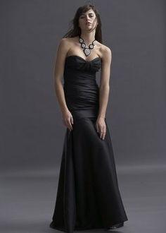 Black bridesmaid dress; I hope my girls like this bc I LOVE it!