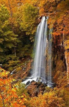 Falling Springs Falls, Covington, Virginia, My daughter lives outside of Covington, and I have seen these beautiful Falls. Beautiful World, Beautiful Places, Beautiful Pictures, Beautiful Landscape Pictures, Beautiful Waterfalls, Beautiful Landscapes, All Nature, Amazing Nature, Fall Pictures
