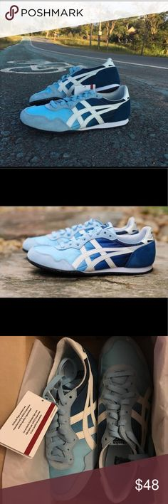 Onitsuka Tiger Serrano, Woman size 9 Brand New, size 9 color Cristal Blue Onitsuka Tiger by Asics Shoes Sneakers