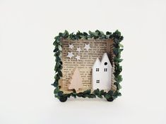 3D shadow box frame A christmas harvest house with a by ILaBoom, $28.00