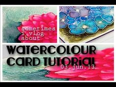 impression obsession dahlia watercoloured card + video tutorial