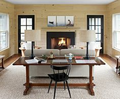 living room alternative to a home office