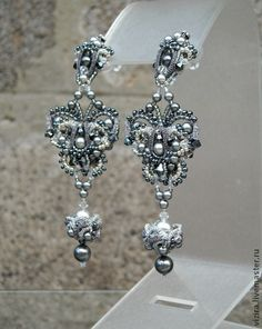 """Earrings """"December moths""""   biser.info - all about beads and beaded works"""