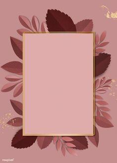 Rectangle paper craft leaf frame template illustration | premium image by rawpixel.com / Adj Pink Glitter Background, Flower Background Wallpaper, Framed Wallpaper, Flower Backgrounds, Pink Wallpaper, Background Patterns, Vintage Floral Backgrounds, Instagram Frame, Instagram Story