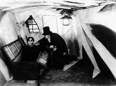 The Cabinet of Dr.Caligari 1920. A silent horror film and one of the most influential films of the German expressionism - it also introduced the 'twist ending'  to cinemas (wiki).