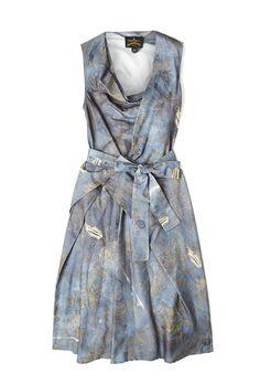 Blue Print Sleeveless Dress by Vivienne Westwood Anglomania