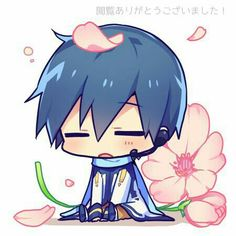 His so Cute! His so Cute! Kawaii Chibi, Anime Chibi, Anime Art, Vocaloid Kaito, Kaito Shion, Kaai Yuki, Mikuo, Shugo Chara, Beautiful Anime Girl