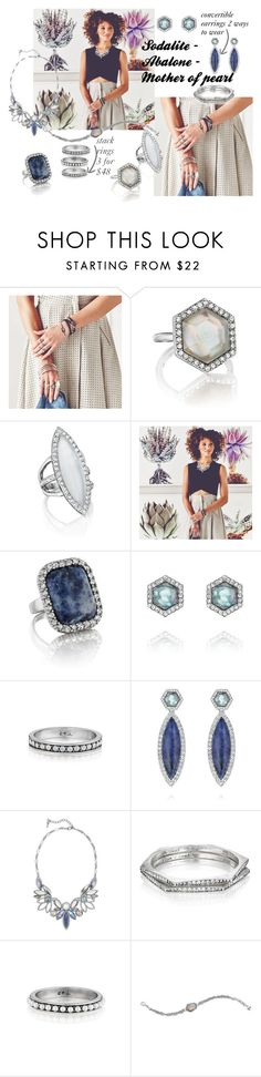 """""""Semi -precious sodalite"""" by christina-coto on Polyvore featuring Chloe + Isabel, chloeandisabel, Semi, motherofpearl and sodalite"""
