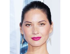 If you have olive undertones and dark hair like Olivia Munn, try a blue-based fuschia lipstick—not for the faint of heart, but guaranteed to turn a head (or two). Munn's makeup artist Shane Paish used Tom Ford's Lip Color ($49) in Violet Fatale for a pop of color.