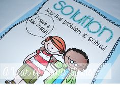 Last week I introduced my students to problem and solution in stories. I LOVE teaching problem and solution to my kiddos because it is somet. Class Management, Classroom Management, Teaching Jobs, Teaching Ideas, Text Structures, Wall Posters, Readers Workshop, Problem And Solution, New Teachers