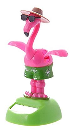 Dancing flamingo with sunglasses Solar Pal. Dimensions: height width depth Contains an integral solar unit that does not require any batteries. Dancing flamingo with sunglasses Solar Pal. Solar Energy, Solar Power, Renewable Energy, Dancing Toys, Dancing Figures, Stained Glass Suncatchers, Stained Glass Designs, Pink Flamingos, Bobble Head