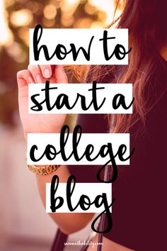 How to start a college blog, a step by step guide to setting up a blog! No computer skills required!