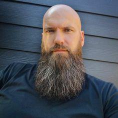 Bald Men With Beards, Bald With Beard, Great Beards, Awesome Beards, Shaved Head With Beard, Goatee Styles, Beard Care, Bearded Men, Thighs