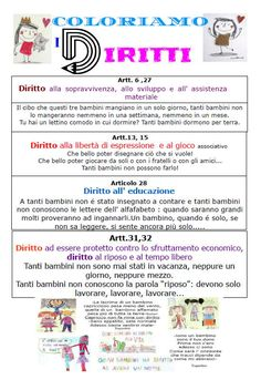 Schede didattiche diritti dei bambini schede per scuola school pinocchio e educational for Maestra gemma diritti dei bambini