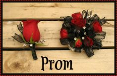 Red Rose Wrist Corsage and Boutonniere