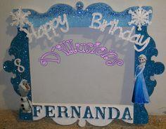 Marco para Fotos Elsa Frozen Party Photo Frame, Party Frame, Photo Frame Prop, Frozen Birthday Theme, Frozen Themed Birthday Party, Frozen Party, Frozen Photo Booth, Elsa Photos, Frozen Christmas