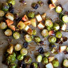 Roasted Brussels Sprouts with Apples and Balsamic