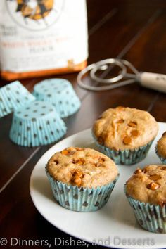 Whole Wheat Cinnamon Muffins (lowfat) #recipe