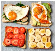 You can literally throw anything on top of wheat toast for a quick healthy snack.