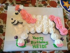 Horse Pony Cake Best Birthday Pull Apart Cupcake Cakes Simple