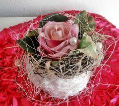 Gesteck, Tischgesteck mit  Rose  von *La Isla Sun*  auf DaWanda.com