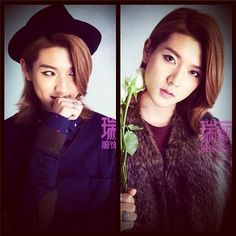 Ren Choi Minki Nu'est Maknae brown hair 2014. Androgynous feminine male beauty. Korean fashion.