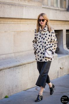 Pernille Teisbaek Street Style by STYLE DU MONDE - leather culottes