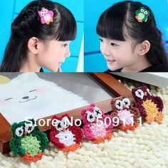 Displaying -font-b-Crochet-b-font-owl-hair-clip-in-Antique-Pink-and-Taupe-Girls-Babies.jpg