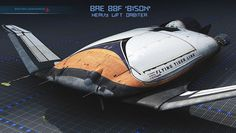 """BAe """"Bison"""" heavy lift orbiter, rear by Mark Nonnenmacher on ArtStation. Spaceship Concept, Concept Ships, Sience Fiction, Hard Science Fiction, Space And Astronomy, Nasa Space, Kerbal Space Program, Sci Fi Spaceships, Planets Wallpaper"""