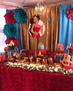 ❤ #events #eventplanner #party planner #parties #party #elenaofavalor #disney #treats #elenaparty #elenaofavalorparty Red Birthday Party, 1st Birthday Themes, Baby Birthday Cakes, 10th Birthday Parties, Girl Birthday, Girl Themes, Balloon Decorations, Princess Party, Party Time