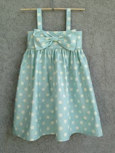 Ava needs this for Easter---Light Blue Polka Dot baby/toddler Dress Easter by dreamcatcherbaby, $65.00