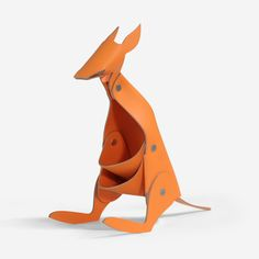 LEATHER KANGAROO – ORANGE http://www.orikami.net/new/new/leather-kangaroo-orange/