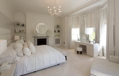 White and Grey Master Bedroom   Master Bedroom by Homerun Services