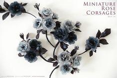 https://flic.kr/p/p1aBP3 | 灰色系迷你玫瑰胸花花飾 | 材質/灰色與黑色本布色內裡布、烏干紗 尺寸/單輪直徑約3.5~4CM 工具/三分圓鏝、五分圓鏝、極細一筋、極小瓣鏝 染料/錦波顏料